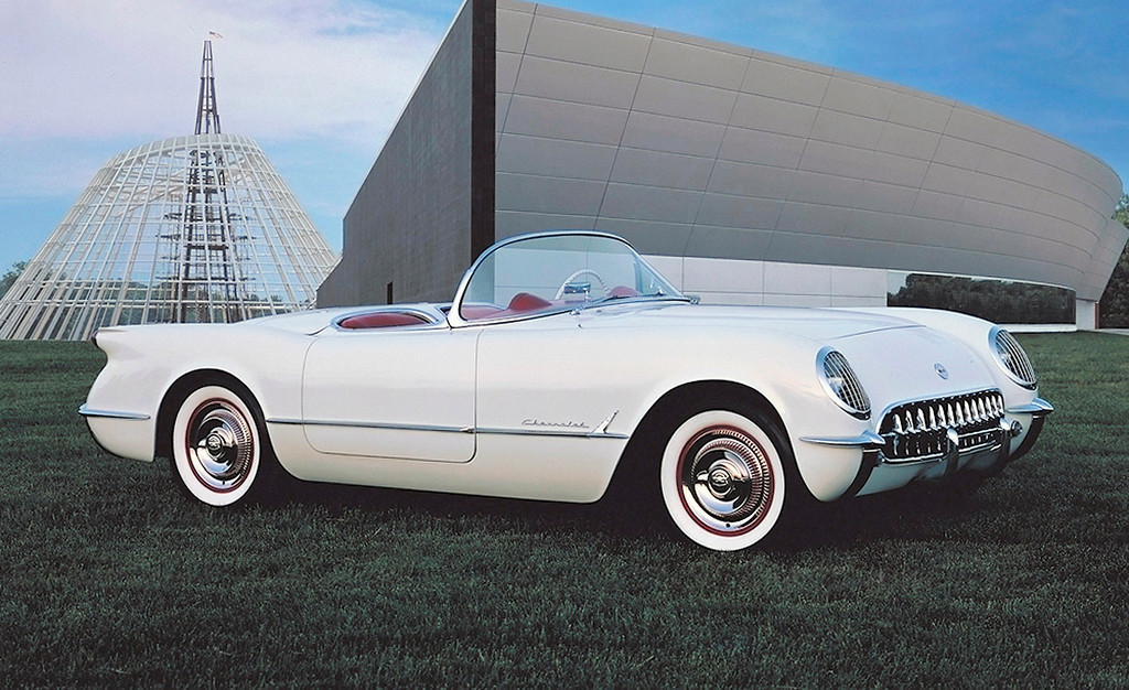 . This undated photo provided by General Motors shows a 1953 Chevroley Corvette. After crowds thronged the �Corvette� concept roadster at the 1953 GM Motorama, Chevrolet put the fiberglass-bodied two-seater into production, and thus began the saga of America\'s Sports Car. (AP Photo/General Motors