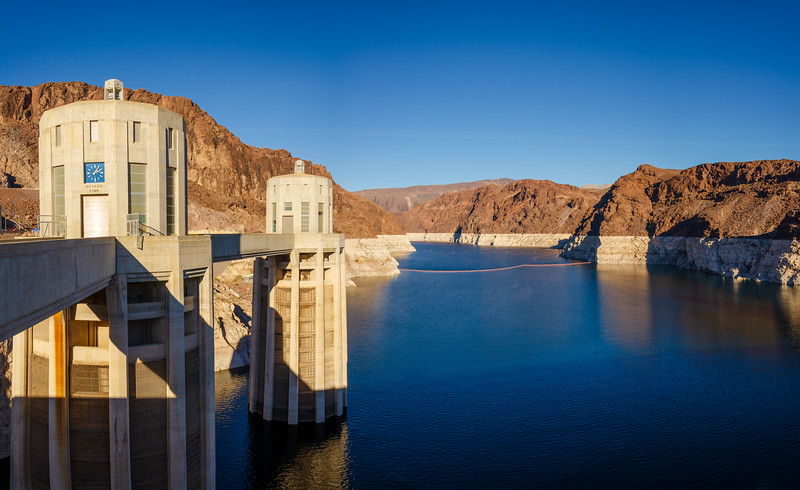 Towers with Walking Bridge at Hoover Dam