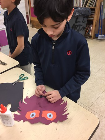 3rd Grade - African-Inspired Tribal Paper Masks