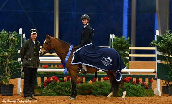 MARY ANN PARMELEE PONY MEDAL FINALS FINEST FEATHER BY FAR RIDER-OWNER AVERY SHEPPARD TRAINER ELEANOR ELLIS