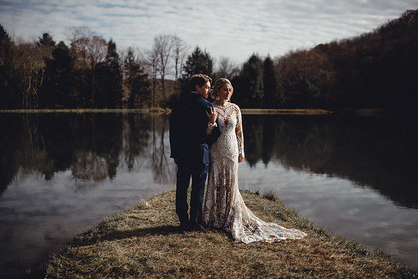 Holly + Blake Intimate Boho Luxe Winter Wedding