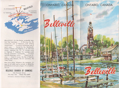 Belleville tourism brochure and map 1960s era