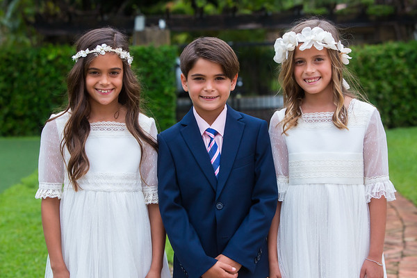 First Communion Medina Family