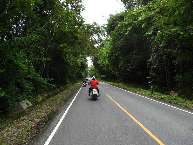 Derek & Dan cruising in Khao Yai National Park.