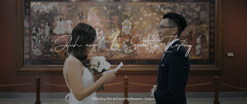 A & L Secretly Eloping | Wedding film at Fine Arts Museum
