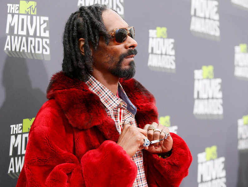 . Musician Snoop Lion arrives at the 2013 MTV Movie Awards in Culver City, California April 14, 2013.  REUTERS/Danny Moloshok
