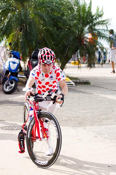 Jose Contreras at Ironman 70.3, Panama 2013.