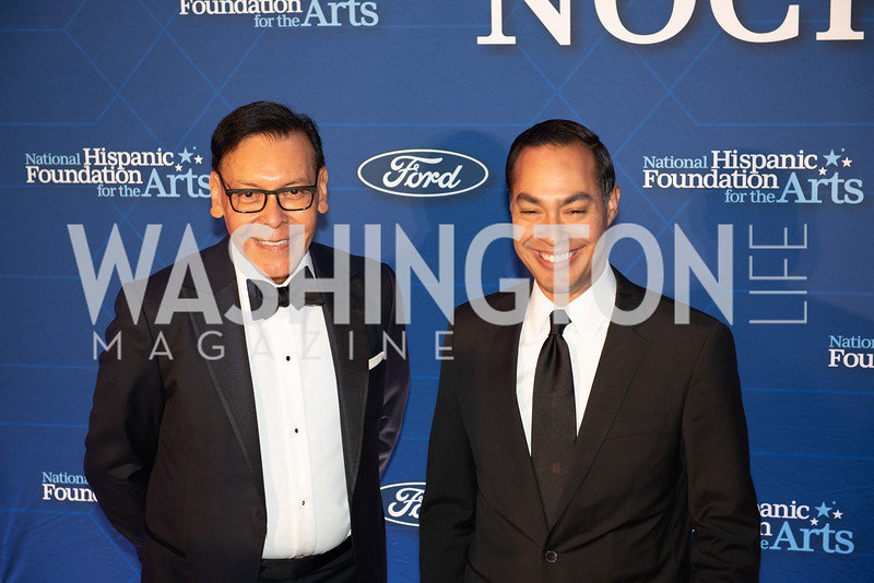 Felix Sanchez, Julian Castro. Photo by Yasmin Holman. Noche de Gala. Mayflower Hotel. 09.18.19