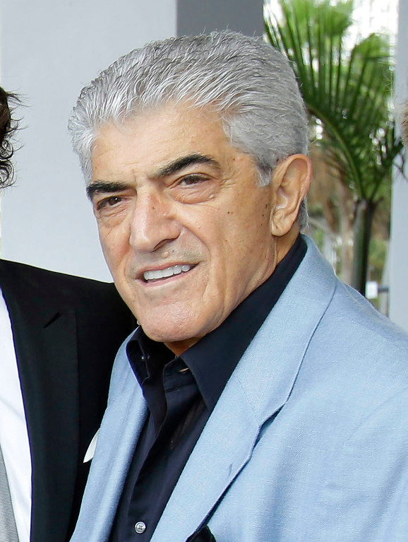 """. FILE - In this Jan. 11, 2013 file photo, actor  Frank Vincent appears in Miami Beach, Fla.  Vincent, a veteran character actor who often played tough guys including mob boss Phil Leotardo on \""""The Sopranos,\"""" died, Wednesday, Sept. 13, 2017. He was 80. (AP Photo/Wilfredo Lee, File)"""