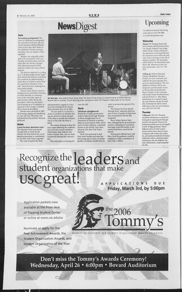 Daily Trojan, Vol. 157, No. 28, February 22, 2006