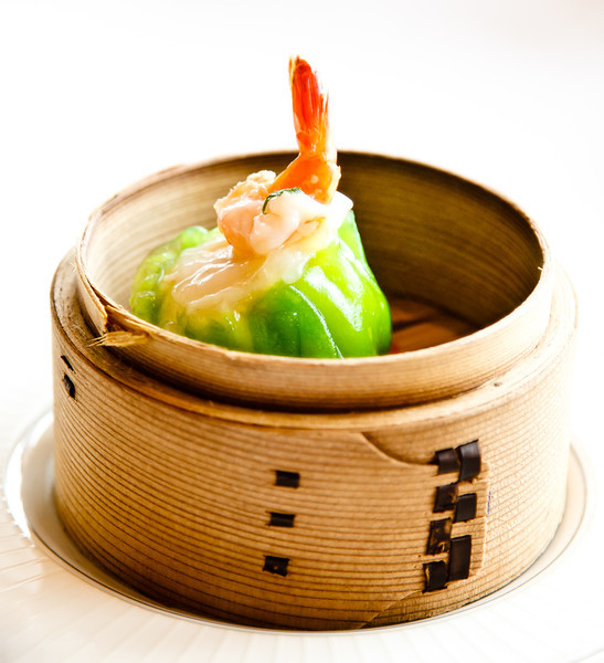 Steamed Lobster and Scallop Dumpling with prawn