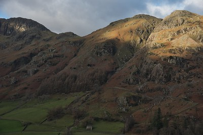 Langdale topos and Stickle Gill to Pavey