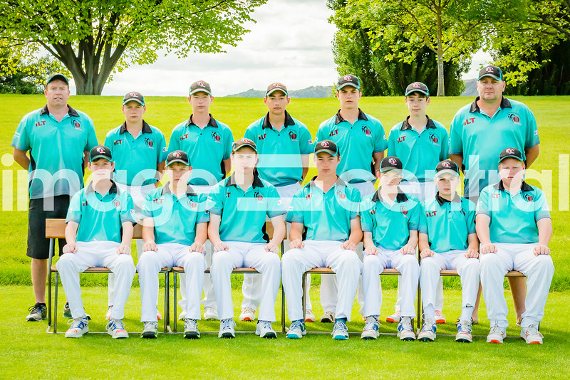 Invercargill Metro U15 Cricket Rep Team at the U15 Boys District Tournament, 17 - 19 December 2018 at Molyneux Park in Alexandra, New Zealand.  18 December 2018. Copyright images Clare Toia-Bailey / image-central.co.nz