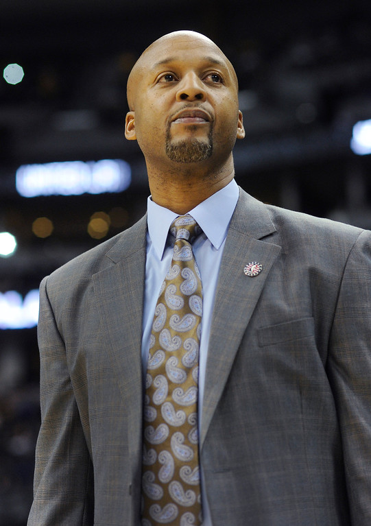 . Brian Shaw got his first win as coach as the Denver Nuggets defeated the Atlanta Hawks 109-107 at the Pepsi Center Thursday night, November 7, 2013. Photo By Karl Gehring/The Denver Post