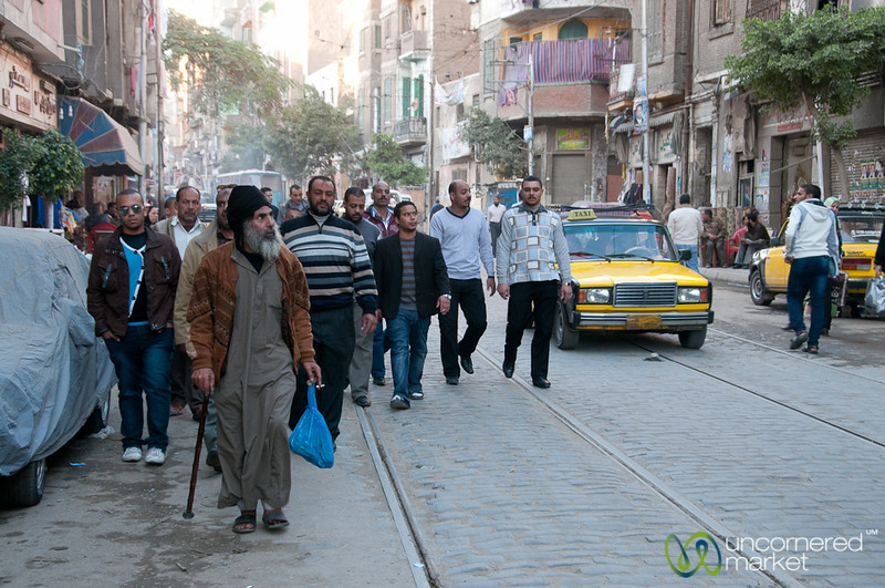 Egyptian Men in Old Alexandria - Egypt