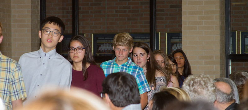 2017 McMeans 7th Grade NJHS Induction