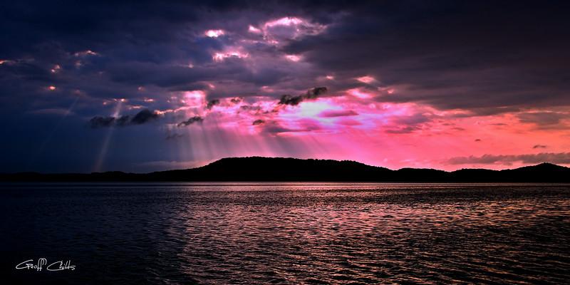 Pink and Grey Rays Sunrise,  Art  photo download and wallpaper screensaver. DIY Print.
