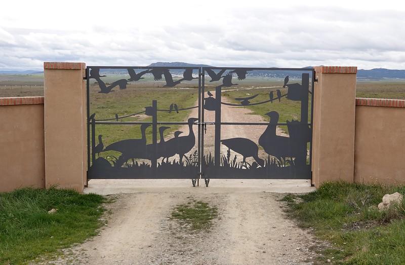Farm gate on the steppe