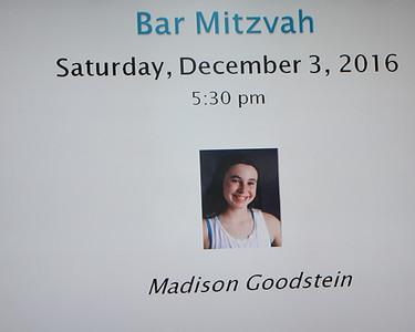 2016-11-03  Madison's Bat Mitzvah