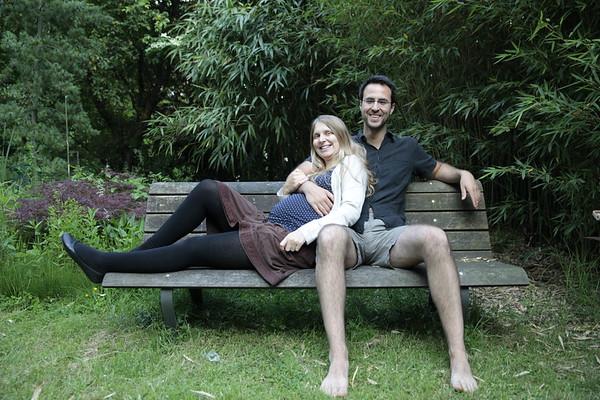 2016-06 ROH Jenny + D  schwanger bei uns im Garten