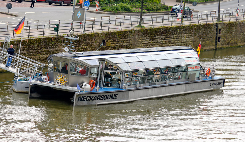 Solar-powered tour boat on the Neckar