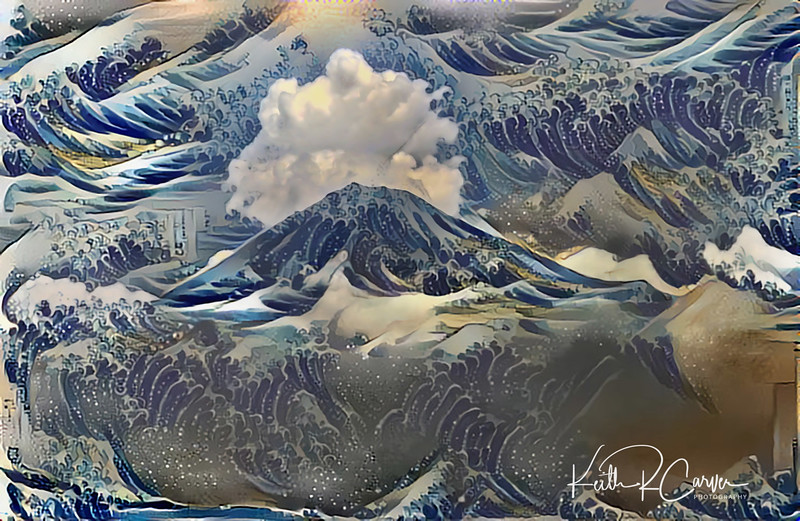 Mt. Fuji and the Hokusai Waves