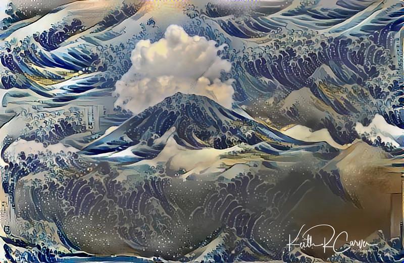 Mt. Fuji and the Hokusai Waves