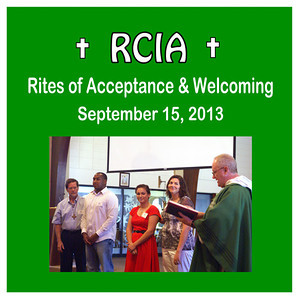 RCIA - Rites of Acceptance & Welcoming