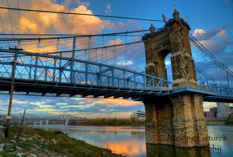 Roebling Suspension Bridge - morning sun