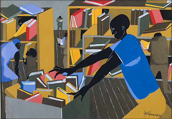 "Jacob Lawrence, ""Library,"" 1966"
