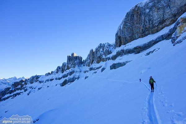 Hohe Ifen ski tour attempt, Kleinwalsertal 2013-12-30