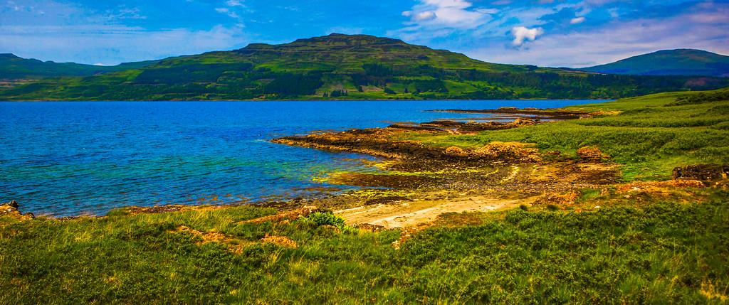 苏格兰美景,有水则灵