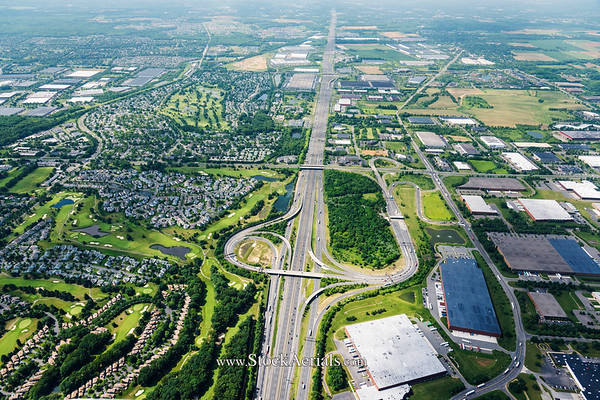 Aerial Photography Exit 8A NJ Turnpike
