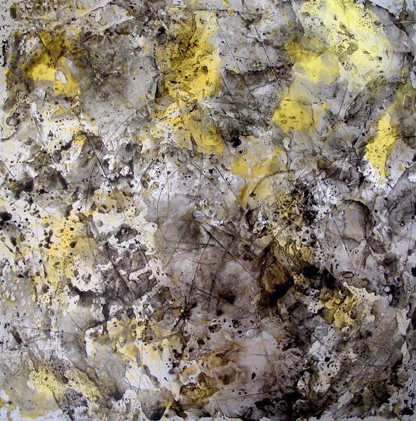 """IORILLO """"Atmospheric Charting 2"""" 24 x 24 aluminum"""