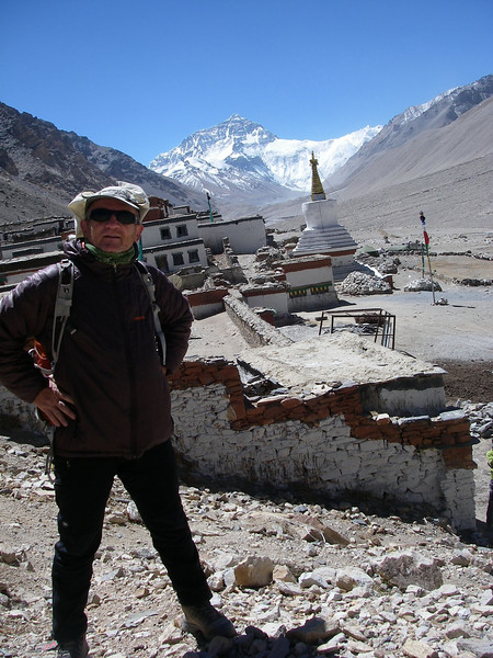 Rongbuk monastery on 4.930 meters = 16,175 feet elevation is highest religious object in the world (functioning year around)