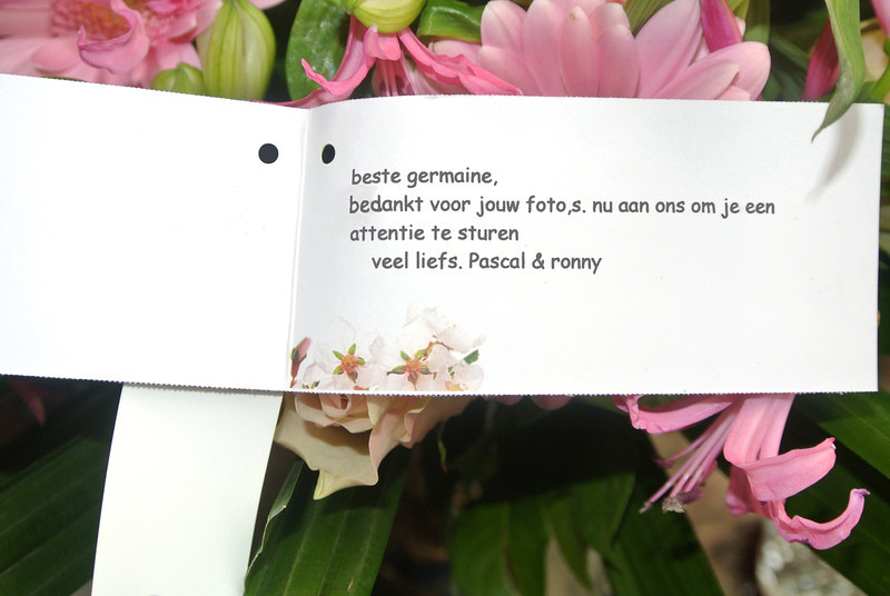 'RONNY & PASCAL' Bloemen voor Maintje 2012-11-11 07.JPG