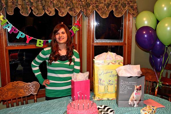 Anna's 16th Birthday