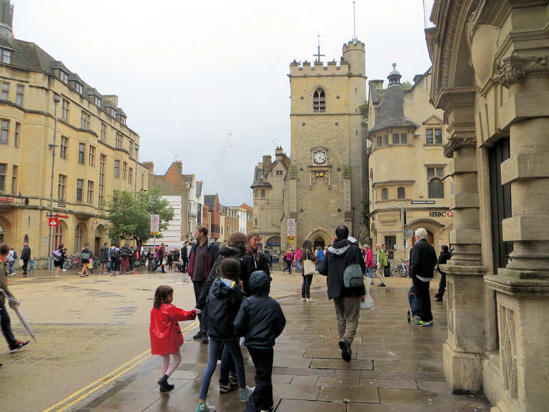 """This is Carfax.  It has nothing to do with used cars, but is the site of the ancient crossroads in the Saxon town--where the east, west, north, and south roads crossed.  Some think the name comes from """"quatre voys"""" or """"four ways.""""  It is the heart of the commercial part of the City Centre."""