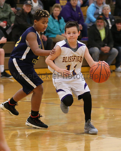 Blissfield vs Columbia Central middle school basketball