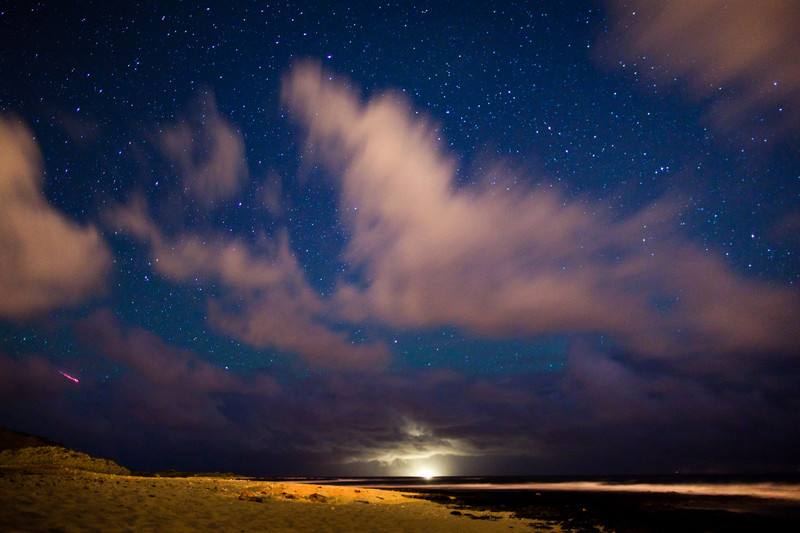 Sandy Beach Meteor Shower