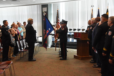 Fire Department hosts promotion ceremony. 4/27/2017