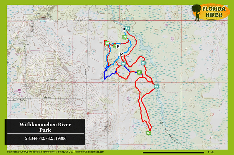Withlacoochee River Park Trail Map