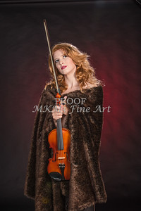 Violin Musician in Color Music Photographs