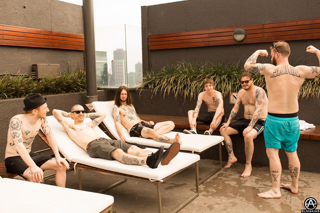 While She Sleeps band and crew