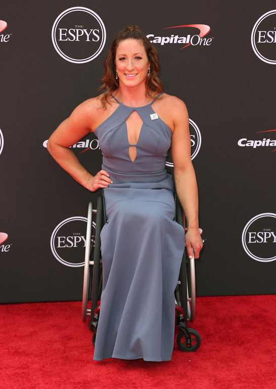 . Paralympic athlete Tatyana McFadden arrives at the ESPY Awards at Microsoft Theater on Wednesday, July 18, 2018, in Los Angeles. (Photo by Willy Sanjuan/Invision/AP)