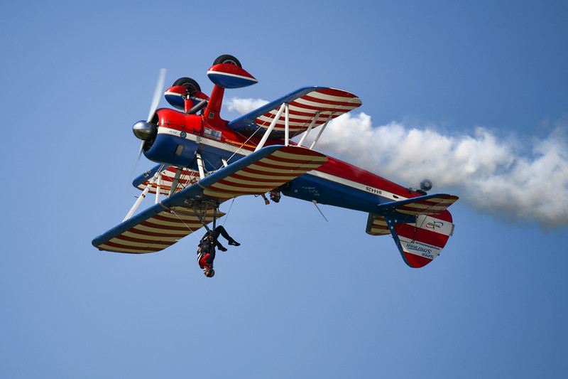 Greg and Ashley Shelton Stearman Wingwalking