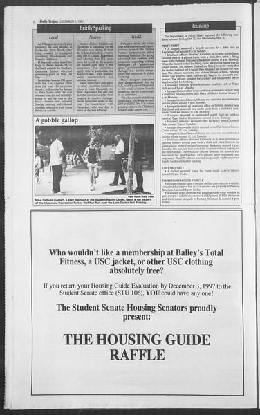 Daily Trojan, Vol. 132, No. 63, December 02, 1997