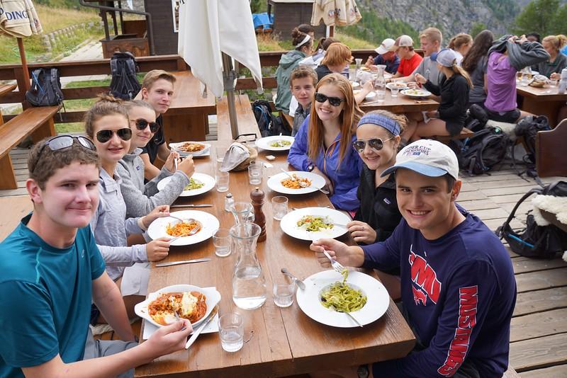 Dinner at Alphitta (Fraser, Laila, Ellory, Will, Jack, Emma, Paige, and Matthew)