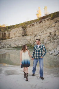 Ashley + Jason | Stone Quarry Sunset Engagement Photography