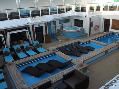 The Haven Sun Deck and Courtyard NORWEGIAN GETAWAY Jan 2014